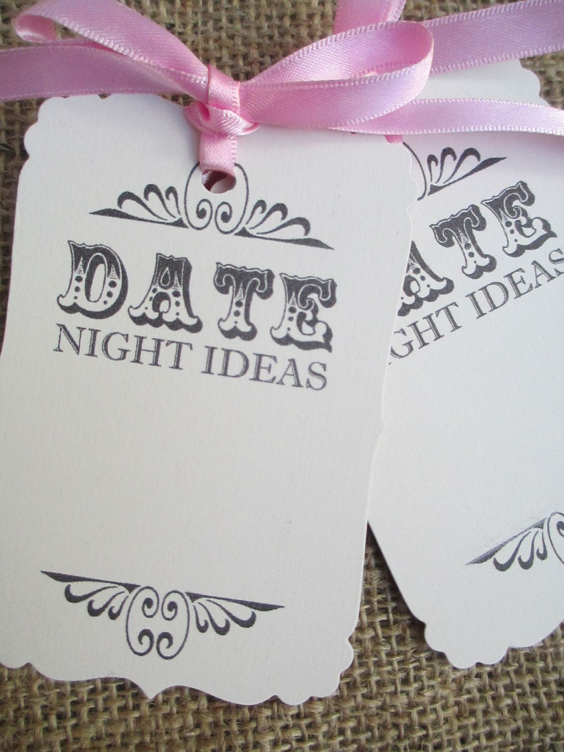 25 Date Night Ideas Ivory Luggage Tags