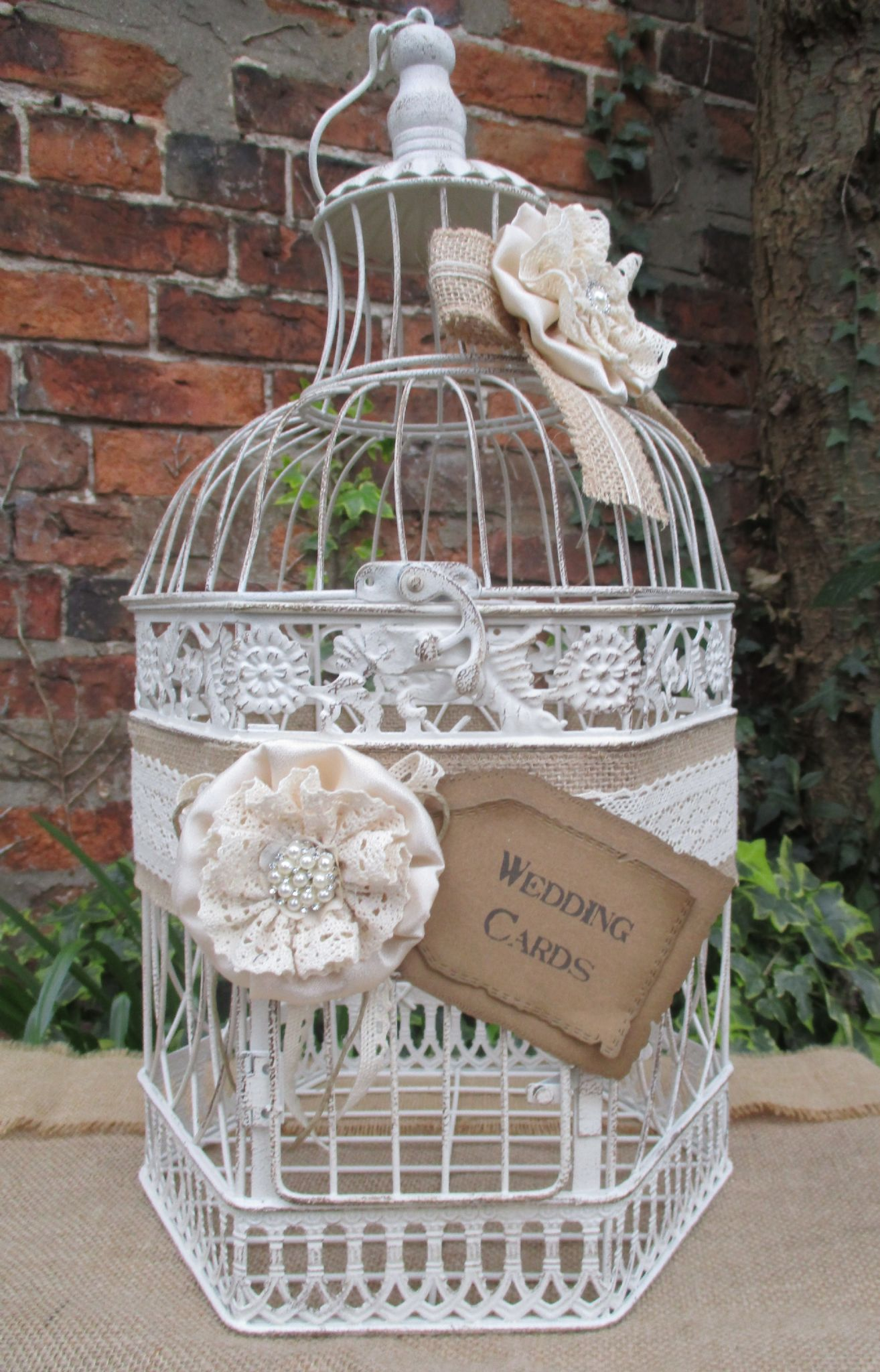 Birdcage Wedding Card Post Box Card Gift Holder