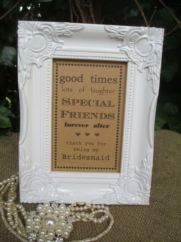 Thank You For Being My Bridesmaid Vintage Frame