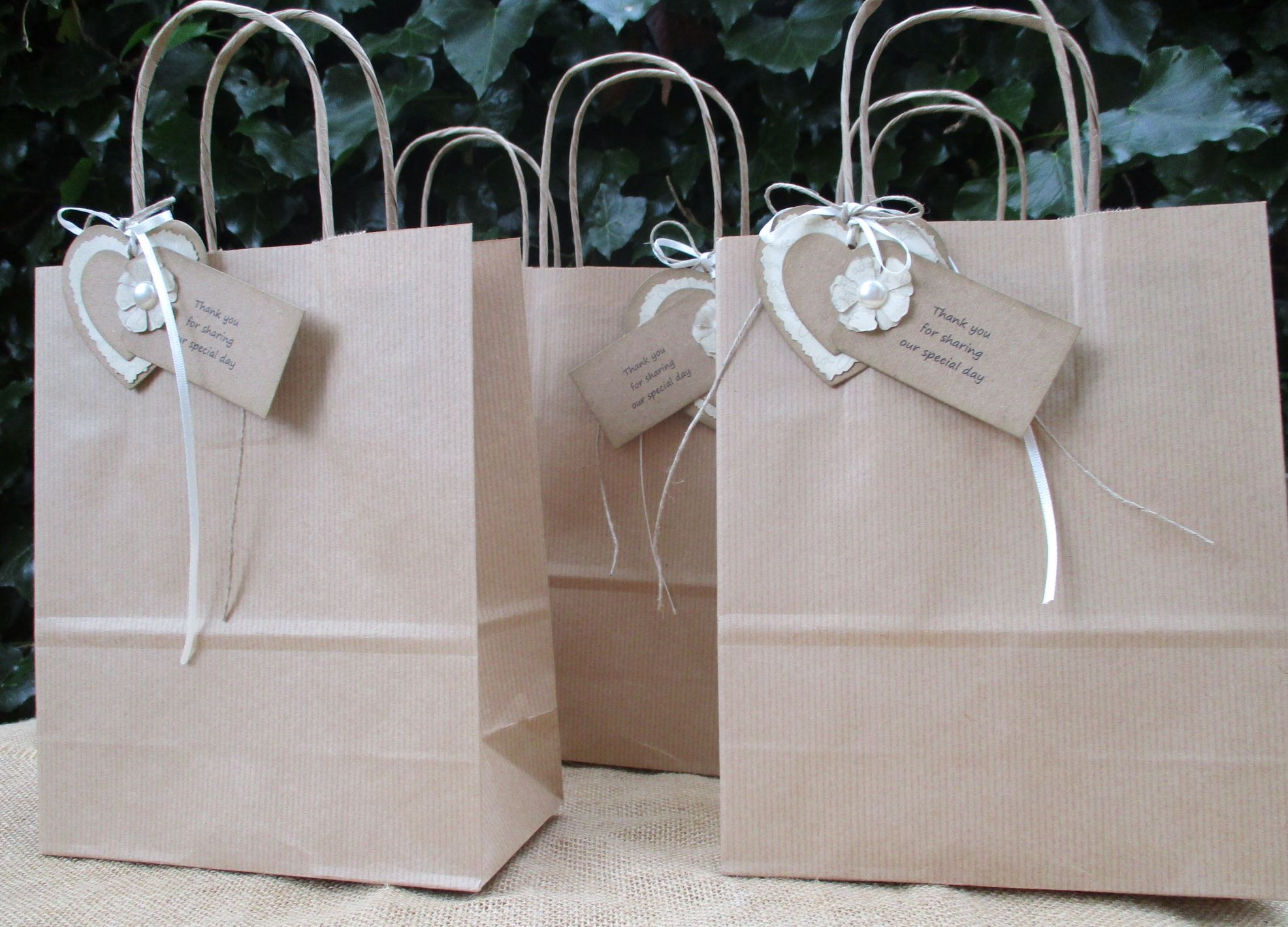 Thank You Wedding Gift Bags : Wedding Favour Gift Bagsset of 5 Thank you for Sharing