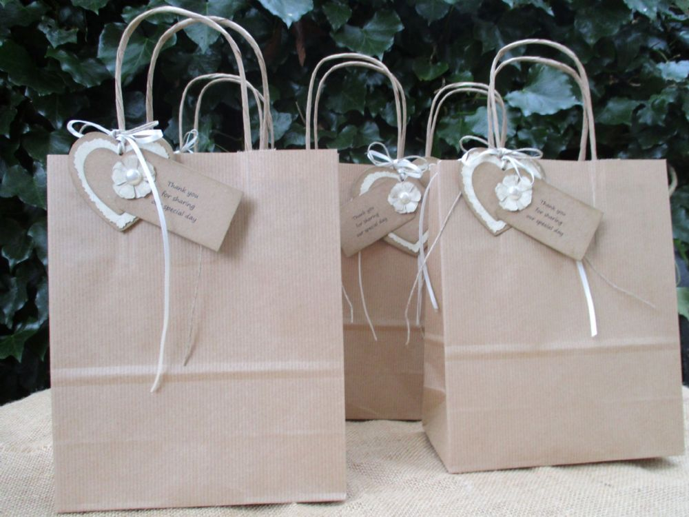 Wedding Favour Gift Bags - set of 5 Thank you for Sharing