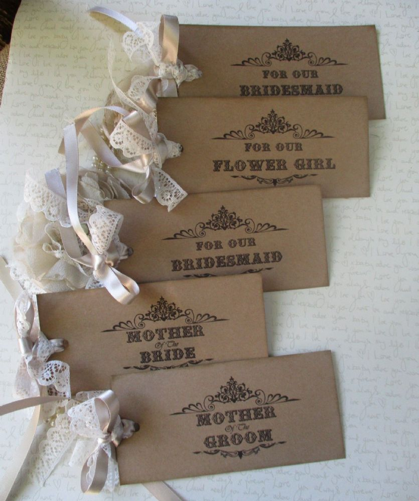 Wedding Favour Gift Tagsset of 5
