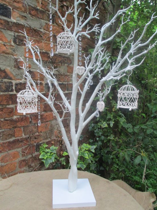 Wedding wishing tree vintage manzanita white 110 cms for Wish decoration