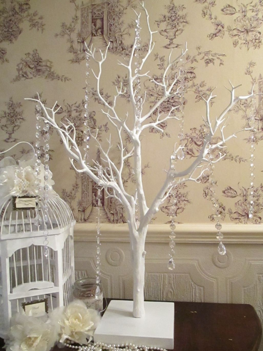wedding wishing tree wish tree vintage manzanita white 85