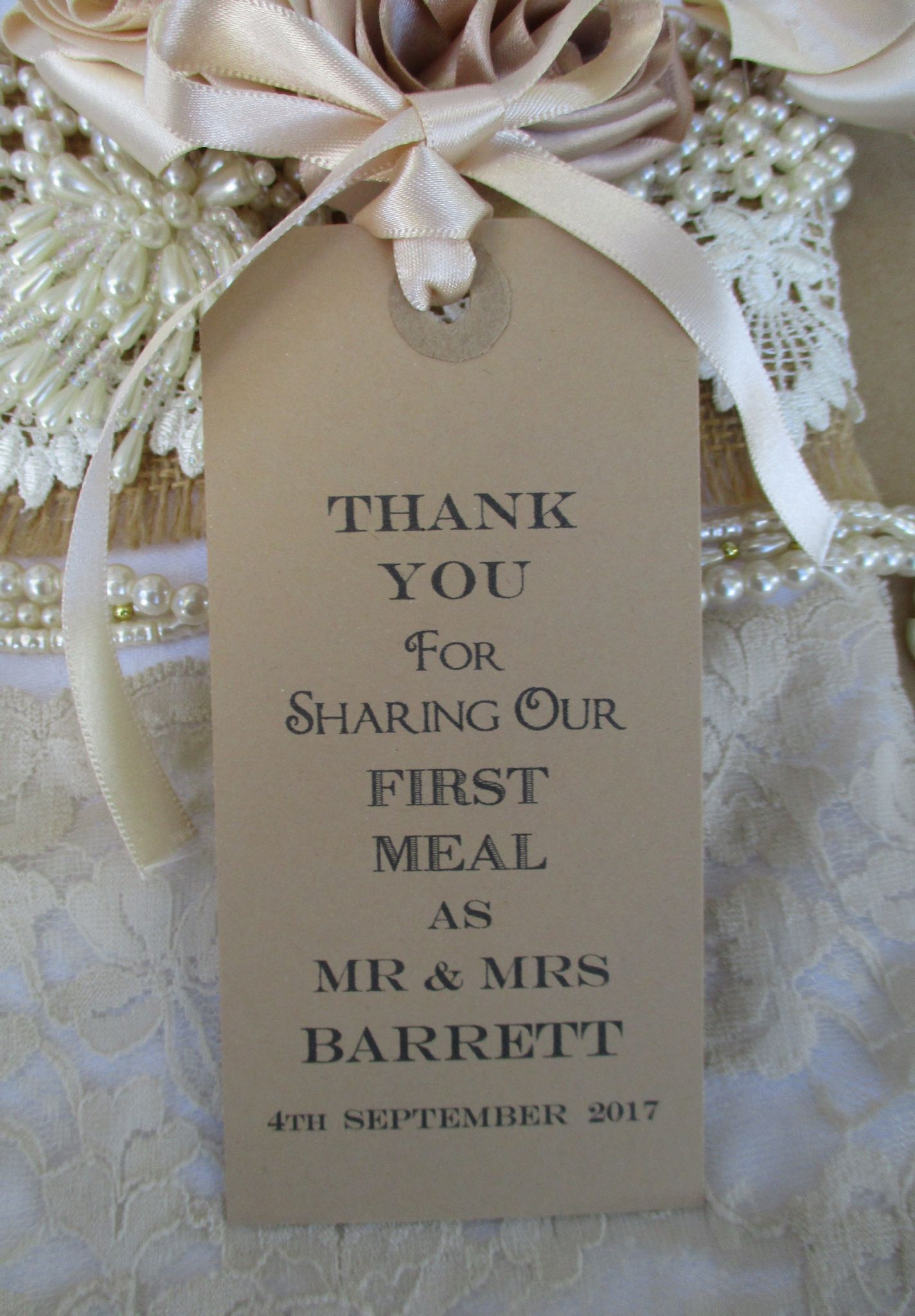 10 thank you for sharing name place cards personalized