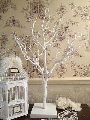 Wedding Wishing Tree Wish Tree Vintage Manzanita White 85 cm High